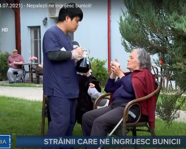 """Reportaj despre clientul nostru Mosia Bunicilor , """"Nepalezii ne ingrijesc bunicii! """""""